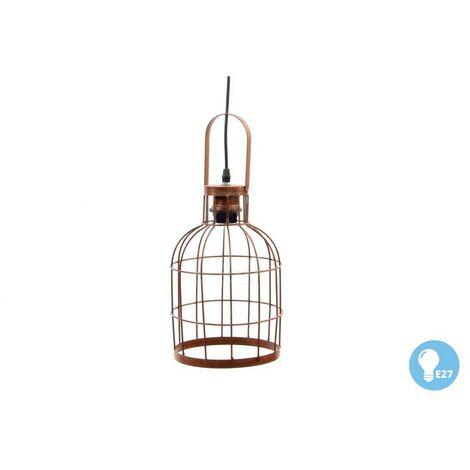 Lámpara de Techo Colgante de Metal con forma de Jaula, para Habitación/Salón. Diseño Industrial con estilo Vintage - Hogar y Más