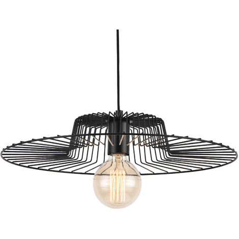 Lámpara de techo colgante decorativa - 140 cm aprox. - negro (E27)