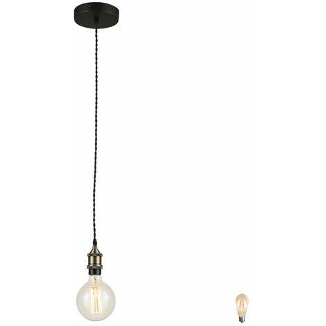 Lámpara de techo colgante E27 lámpara colgante focos de techo en el conjunto incluyendo bombillas LED