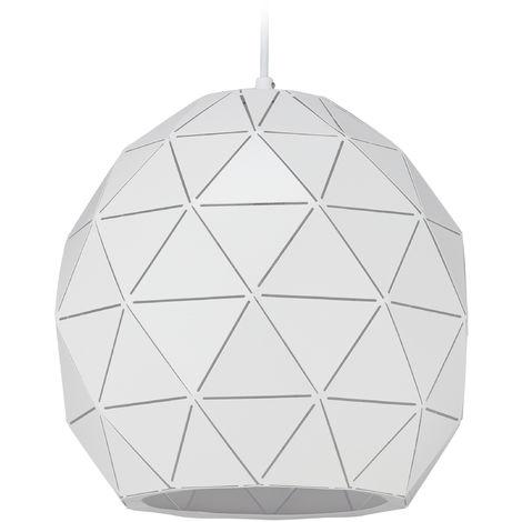 Lámpara de techo, Colgante, Geométrica, Un foco, E27, Moderna, Acero, 30 cm, Blanco