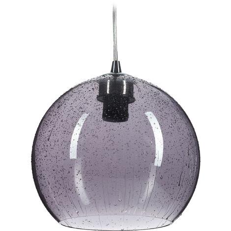 Lámpara de techo, Colgante, Gotitas de agua, Salón & Comedor, E27, ∅22 cm, Gris