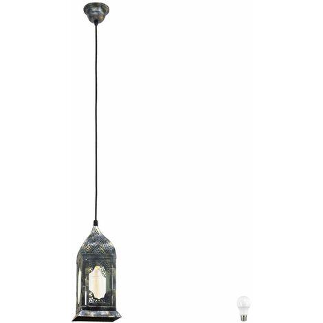 Lámpara de techo colgante retro Ess lámpara de techo colgante diseño de linterna en conjunto con bombillas LED