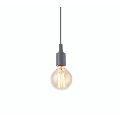 Lámpara de techo / colgante - soporte de lámpara retro E27 gris