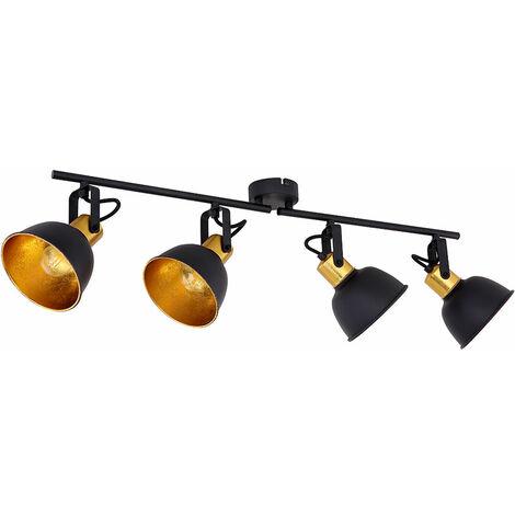 Lámpara de techo Comedor Comedor Haz de luz Accesorio de luz Carril de luz Giratorio de color dorado  Globo 54655-4