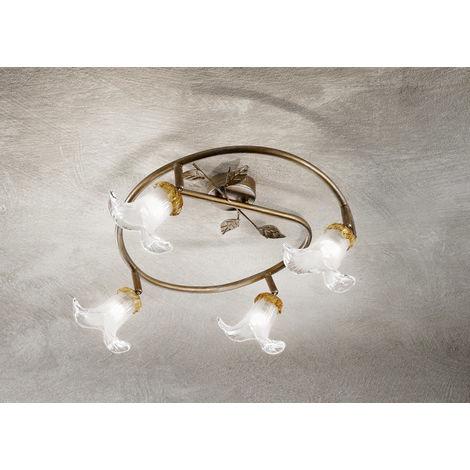 Lámpara de techo con 4 focos LED cm 0 PERENZ 5309