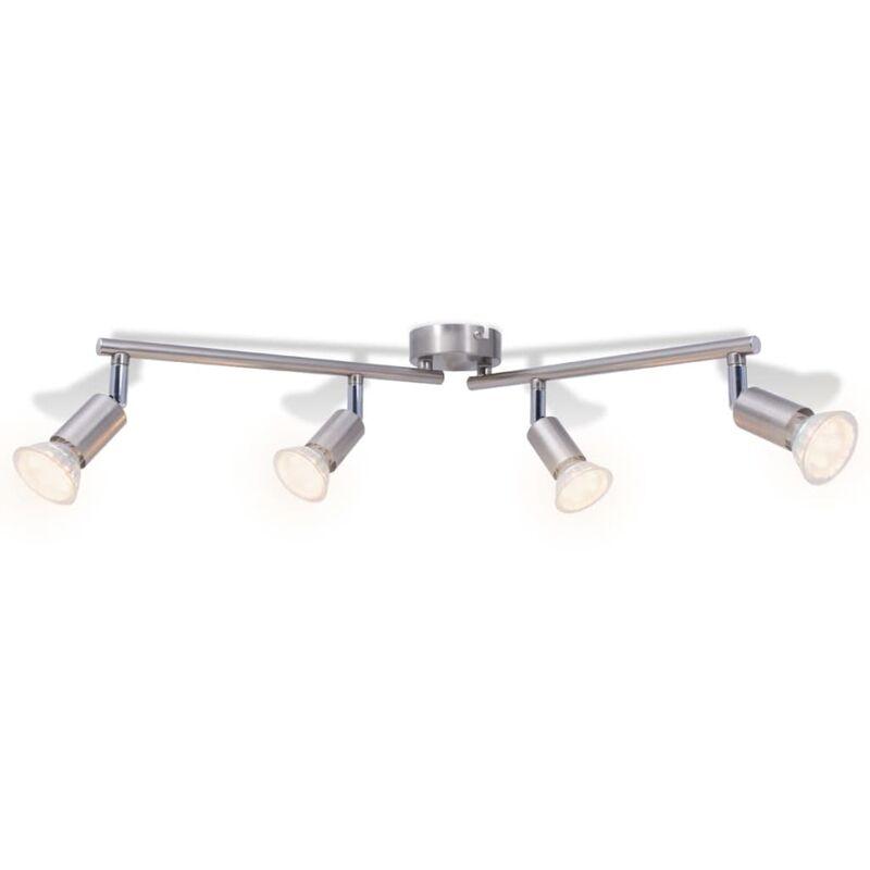 LED focos satinado techo con 4 de de níquel Lámpara xshQCBotrd