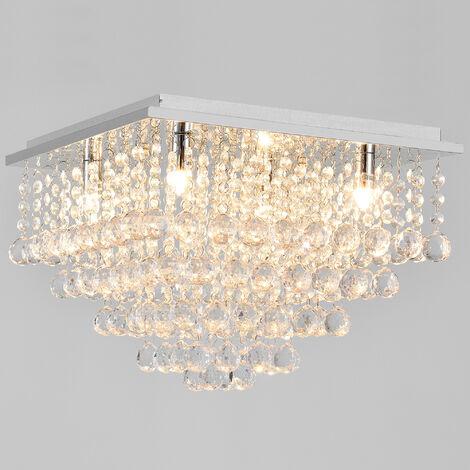 Lámpara de techo con cristales sintéticos brillantes - (4 x G9) - Iluminación colgante