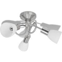 Lámpara de techo con pantallas de cristal para 3 bombillas E14