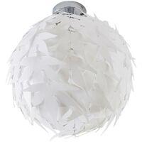 Lámpara de techo Corin en blanco, look moderno