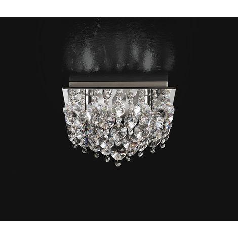 Lámpara de techo cuadrada con cristales PERENZ 5845