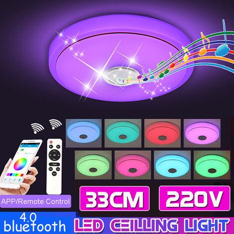 Lámpara de techo de acrílico de 200W Lámpara de techo LED moderna Lámpara regulable de altavoz de música RGB Bluetooth