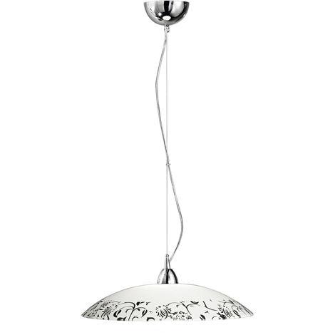 Lámpara de techo de cristal blanco y neg PERENZ 6004 DN