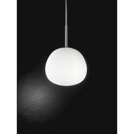 Lámpara de techo de cristal cromado y bl PERENZ 6464