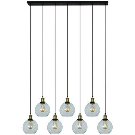 Lámpara de Techo de Cristal Lumo 7 Elementos