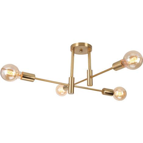 Lámpara de Techo de Diamantes Ø20cm Negro Creativa Lámpara de Techo Retro Lámpara de Techo Moderna, Lámpara de Araña de Metal Industrial E27 Zócalo Pantalla de Lámpara de Hierro