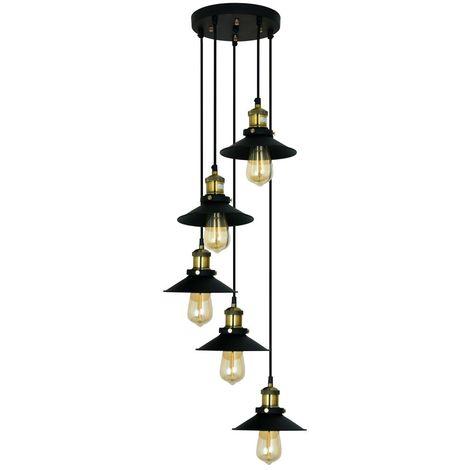 Lámpara de Techo de Diseño Alba Negro