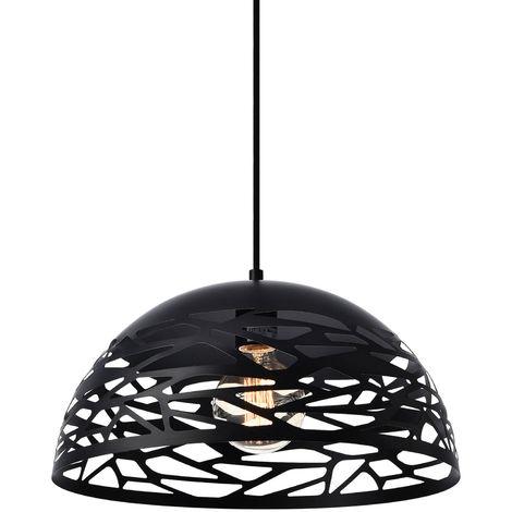 Lámpara de techo de diseño con motivos negra - look industrial (E27)