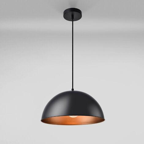 Lámpara de techo de diseño en negro - altura 150 cm