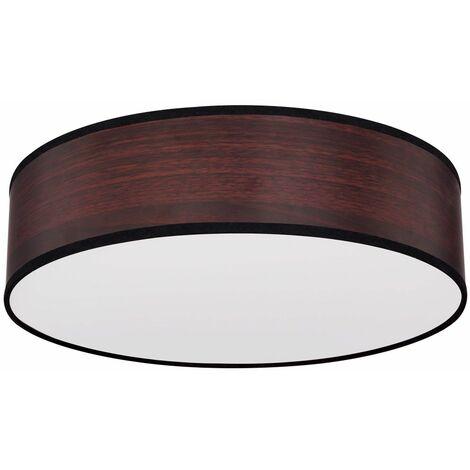 Lámpara de techo de diseño regulable de madera óptica con control remoto marrón claro en un conjunto que incluye un iluminante LED RGB