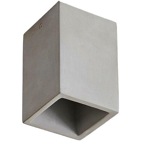 Lámpara de techo de hormigón Gerda, forma angular