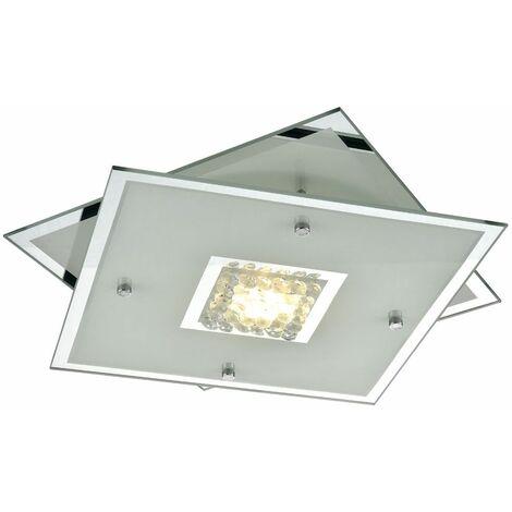 Lámpara de techo de lujo LED Salón comedor Cristal cromado Proyector de cristal Lámpara de pasillo Esto 748048L