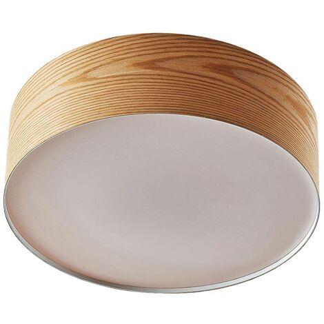 Lámpara de techo de madera Dominic redonda