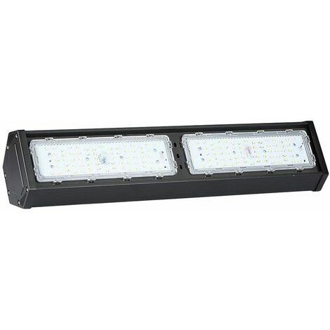 Lámpara de techo de pasillo de 100W LED lámpara de luz natural para sala húmeda taller de almacén negro