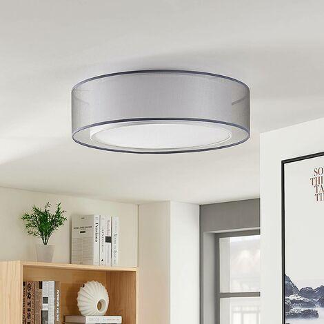 Lámpara de techo de tela Amon, atenuable, gris