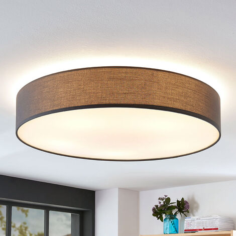 Lámpara de techo de tela Gordana en gris, 76 cm