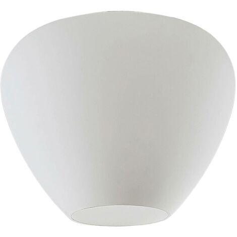 Lámpara de techo de vidrio Bibiane, blanco opal