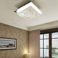Lámpara de techo de vidrio cuadrada E27 patrón
