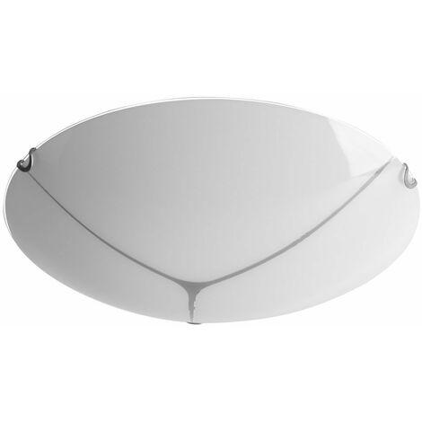 Lámpara de techo de vidrio opal Ess Iluminación de la habitación Foco Lámpara redonda en el conjunto que incluye bombillas LED
