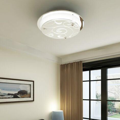 Lámpara de techo de vidrio, redonda estampada, 1 x E27