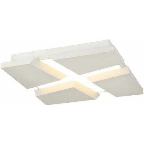 Lámpara de techo Design Diamond 1 Bombilla Blanco lijado 60 Cm