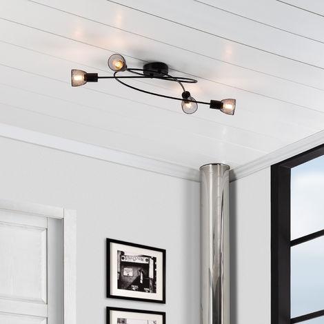 Lámpara de Techo Design Grid 4 Focos Negro Negro