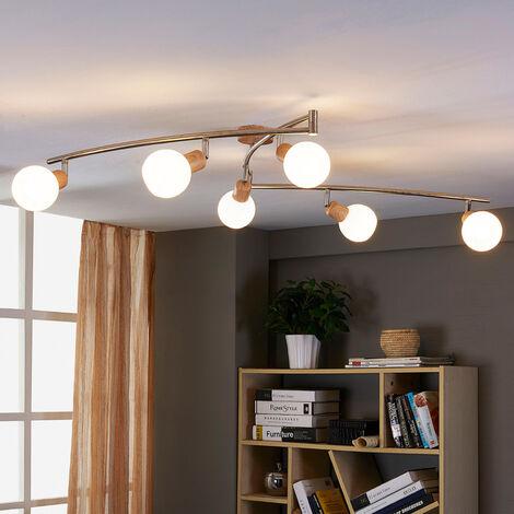 Lámpara de techo efecto madera Svenka con LED