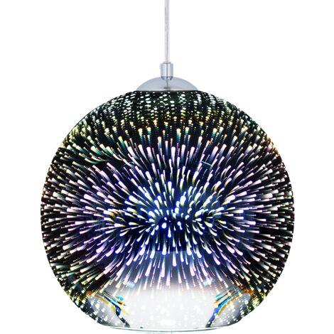 Lámpara de techo en cristal cromado SESSERA