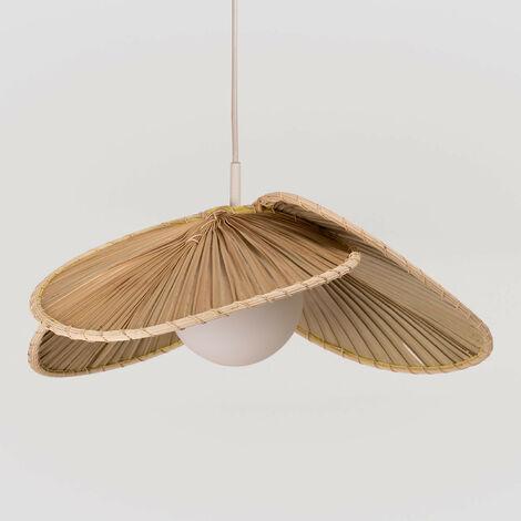 Lámpara de Techo en Hoja de Coco (Ø53 cm) Kilda SKLUM Hoja de Coco Natural - Natural