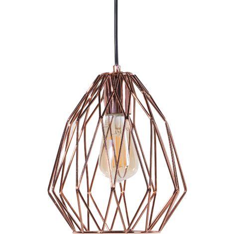 Lámpara de techo en metal cobriza MAGRA