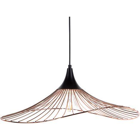 Lámpara de techo en metal cobriza MAZARO