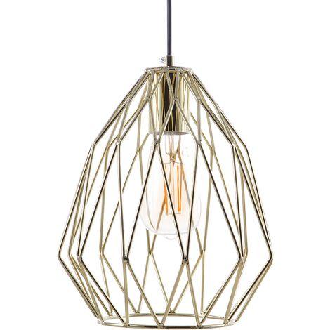 Lámpara de techo en metal dorada MAGRA