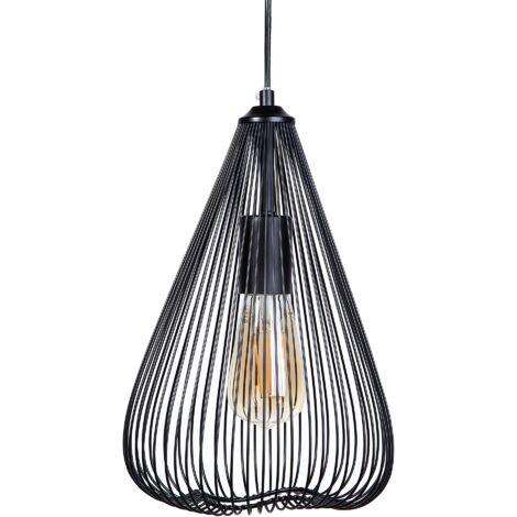 Lámpara de techo en metal negra CONCA