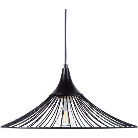 Lámpara de techo en metal negra GIONA