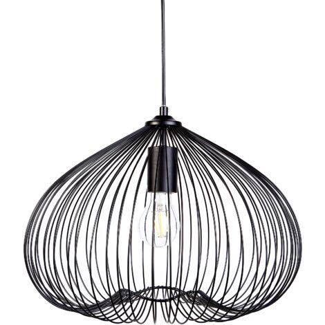 Lámpara de techo en metal negra TORDINO