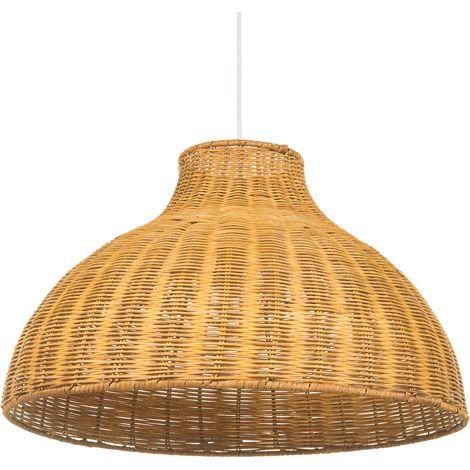 Lámpara de techo en ratán marrón MILLIAN