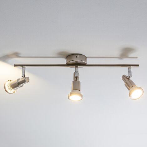 Lámpara de techo estrecha de 3 focos Aron