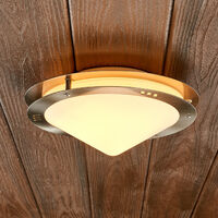 lámpara de techo exterior Reneas de acero inox
