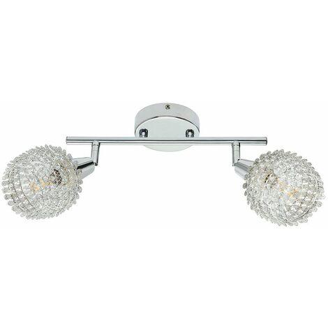 Lámpara de techo, foco, barra, lámpara ajustable, cromo, sala de estar, iluminación, decoración, hojas Globo 54502-2