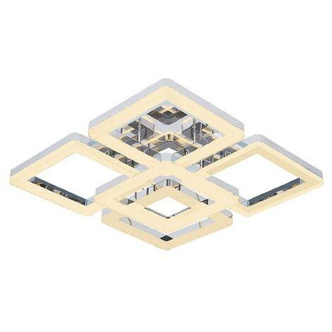 Lampara de Techo Galya Plafon - Cuadrada - de Pared - en Metal, 52 x 52 x 17 cm, 1 x LED, 80W, 8400LM, 4200K Luz Blanca