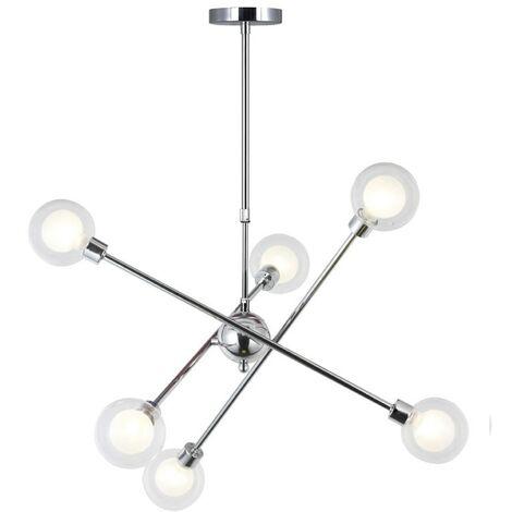 Lámpara de techo GLOBO 6 luces CROMO CR 99-585-06-001